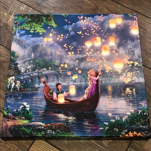 """Thomas Kinkade """"Rapunzel"""" Canvas (Disney)"""